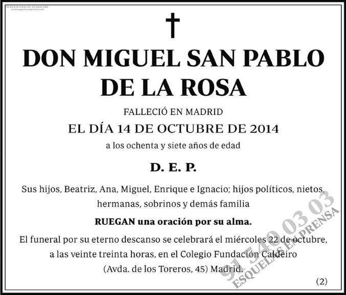 Miguel San Pablo de la Rosa